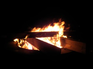 a huge fire